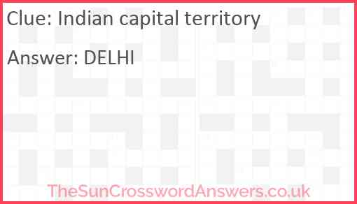 Indian capital territory Answer