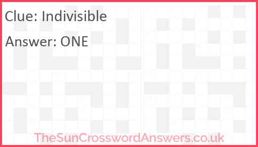 Indivisible Answer
