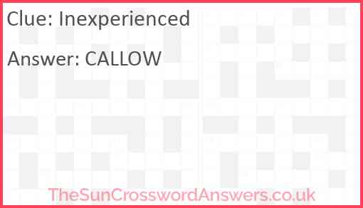 Inexperienced Answer