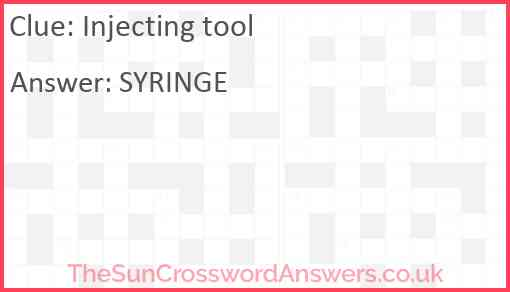 Injecting tool Answer