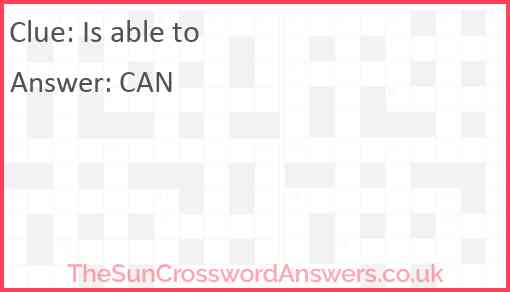 Is able to Answer