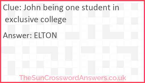 John being one student in exclusive college Answer