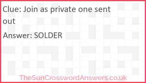 Join as private one sent out Answer