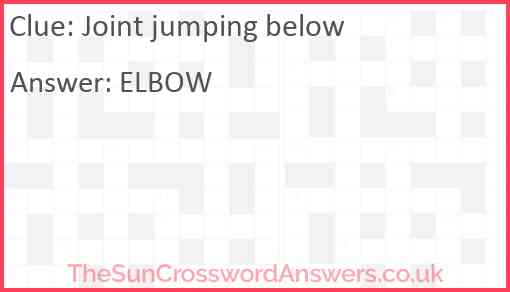 Joint jumping below Answer