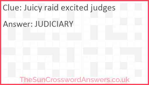 Juicy raid excited judges Answer