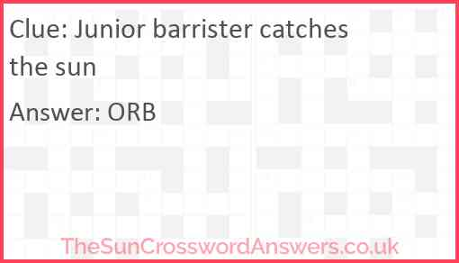 Junior barrister catches the sun Answer