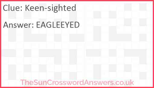 Keen-sighted Answer