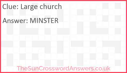 Large church Answer