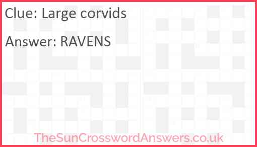 Large corvids Answer