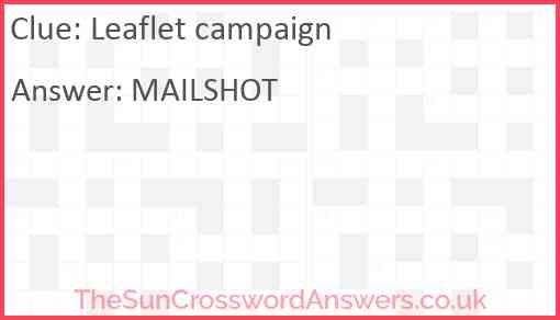 Leaflet campaign Answer