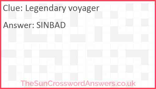 Legendary voyager Answer