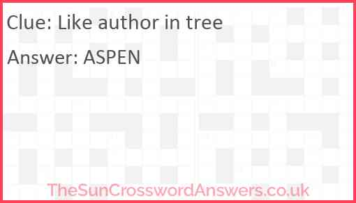 Like author in tree Answer