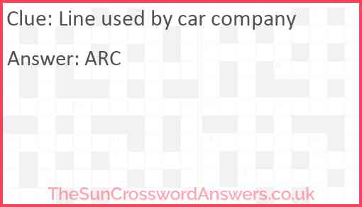 Line used by car company Answer