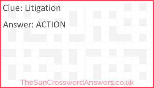 Litigation Answer