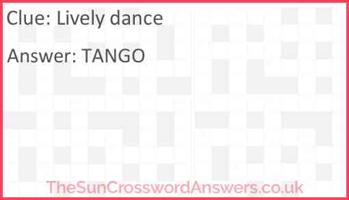 Lively dance Answer