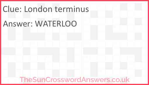 London terminus Answer