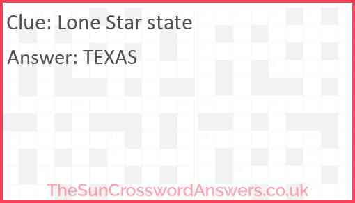 Lone Star state Answer