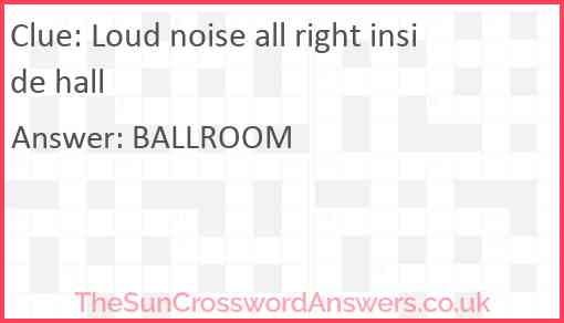 Loud noise all right inside hall Answer