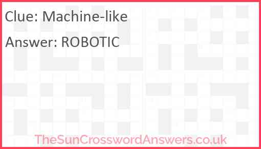 Machine-like Answer