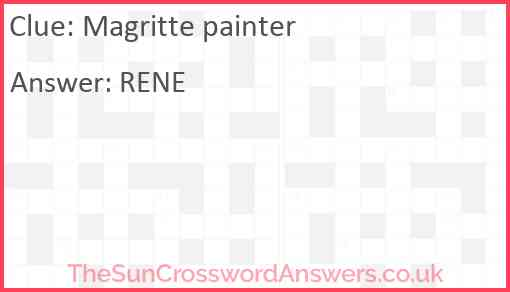 Magritte painter Answer