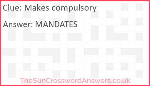 Makes compulsory Answer