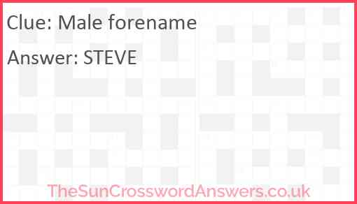 Male forename Answer