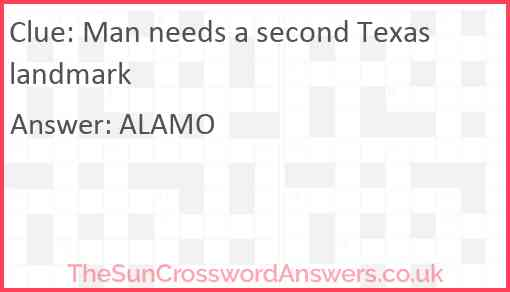 Man needs a second Texas landmark Answer