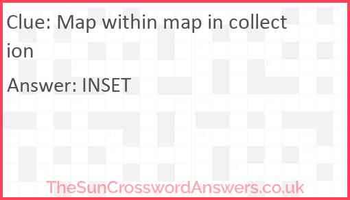 Map within map in collection Answer