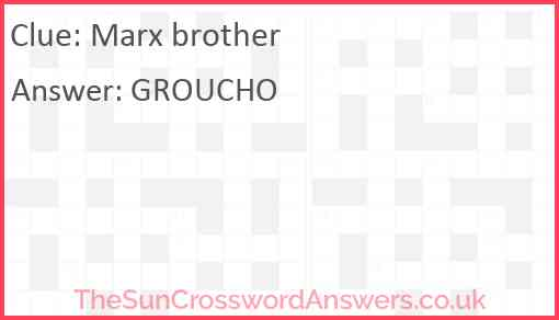 Marx brother Answer