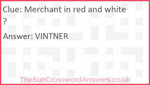Merchant in red and white? Answer