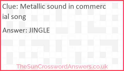 Metallic sound in commercial song Answer