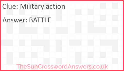 Military action Answer