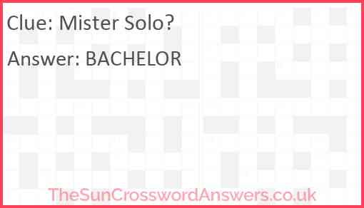 Mister Solo? Answer