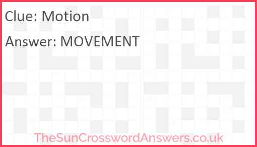 Motion Answer