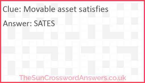 Movable asset satisfies Answer