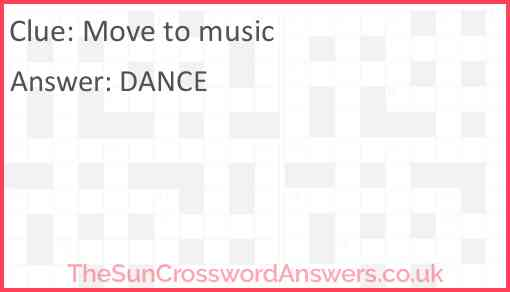 Move to music Answer