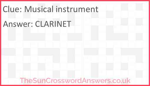 Musical instrument Answer