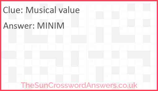 Musical value Answer