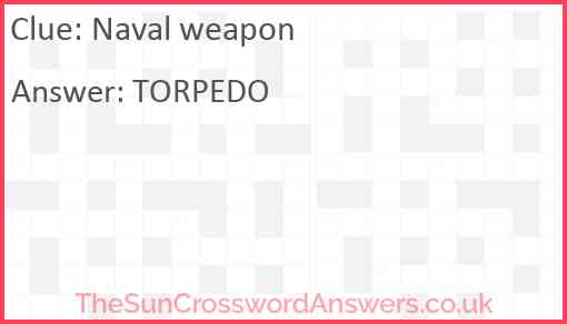 Naval weapon Answer