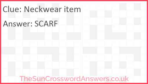 Neckwear item Answer