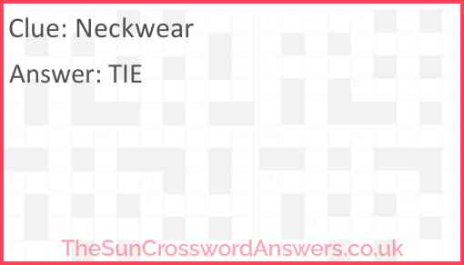 Neckwear Answer
