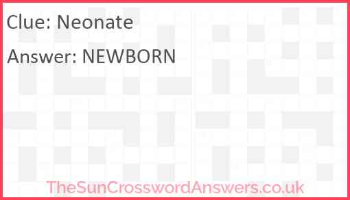 Neonate Answer