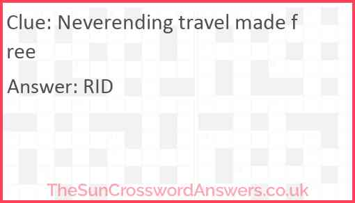 Neverending travel made free Answer