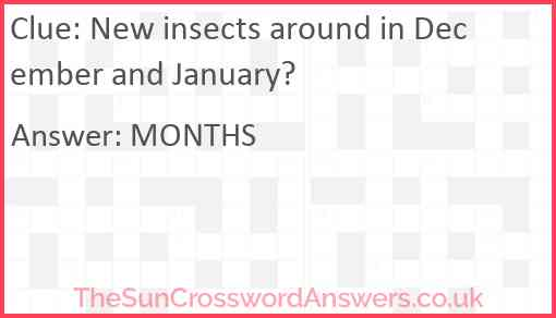 New insects around in December and January? Answer