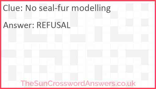 No seal-fur modelling Answer