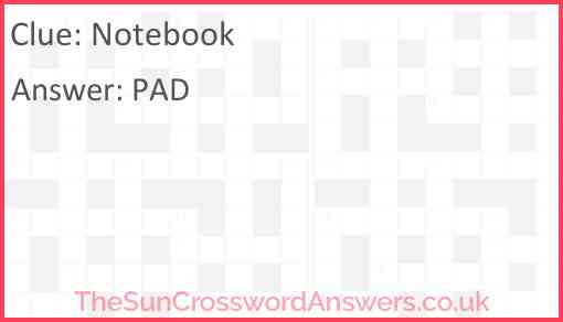Notebook Answer