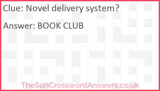 Novel delivery system? Answer