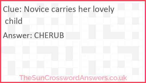Novice carries her lovely child Answer