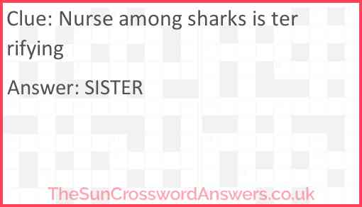 Nurse among sharks is terrifying Answer