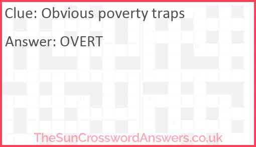 Obvious poverty traps Answer
